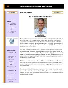 World Wide Christians Magazine June 8 2013