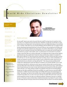 World Wide Christians Magazine June 15 2013