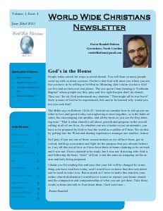 World Wide Christians Magazine June 22 2013