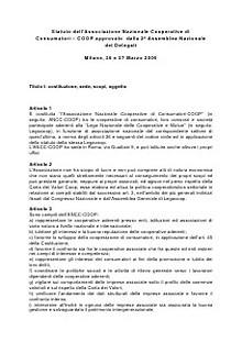 Coop Politiche Sociali - Documenti