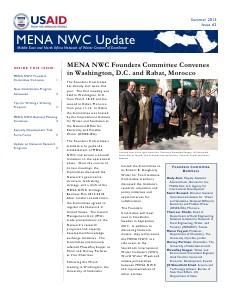 MENA NWC Update Summer 2013