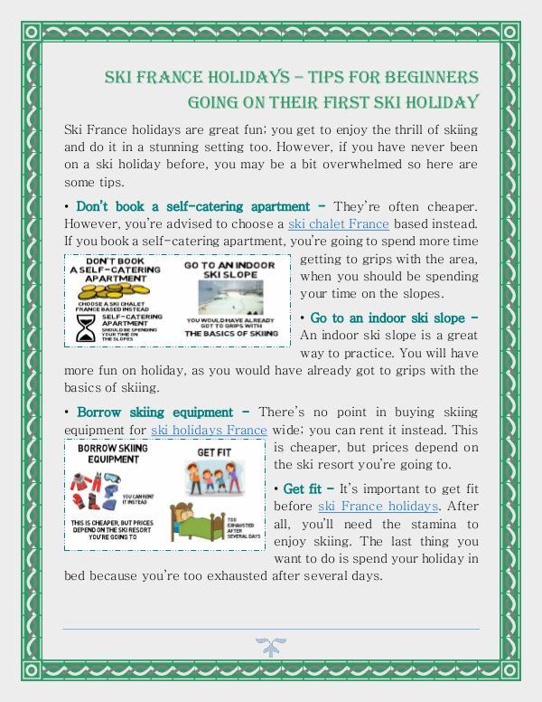 Ski France Holidays – Tips For Beginners Going On Their First Ski Hol Ski France Holidays – Tips For Beginners Going On