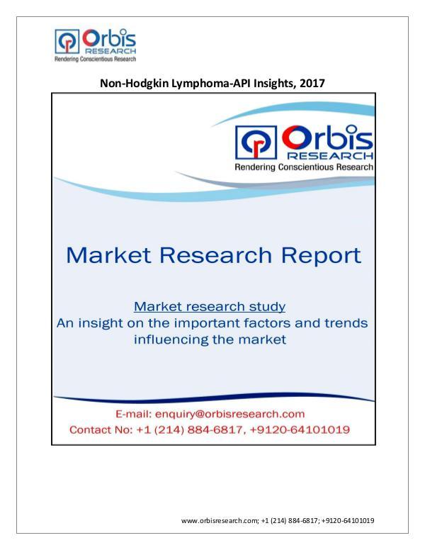 Non-Hodgkin Lymphoma - API Insights ,2017 opportun