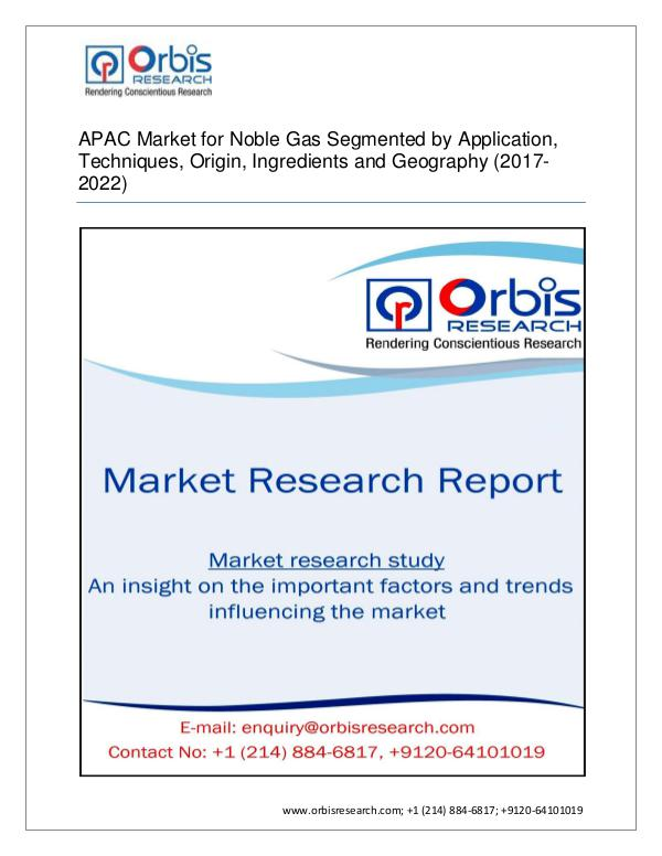 APAC Noble Gas Market Segmented by Derivative type