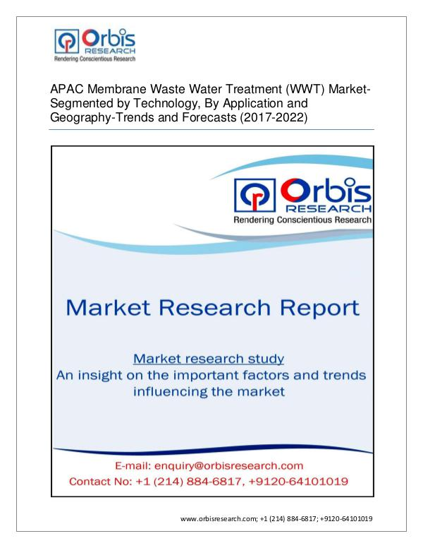 APAC Membrane Waste Water Treatment Market by Appl