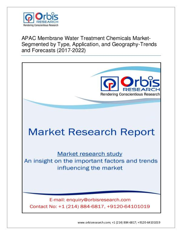 APAC Membrane Water Treatment Chemicals Market By