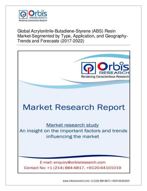Global Acrylonitrile-Butadiene-Styrene (ABS) Resin