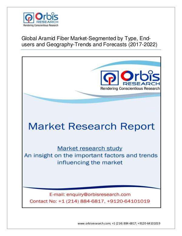Chemical and Materials Market Research Report Latest Report on Global Aramid Fiber  Market Indus