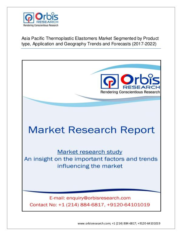 Asia Pacific Thermoplastic Elastomers Market 2022