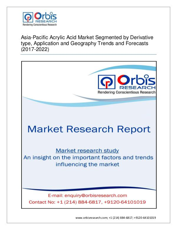 Asia-Pacific Acrylic Acid Industrial 2017 sectors