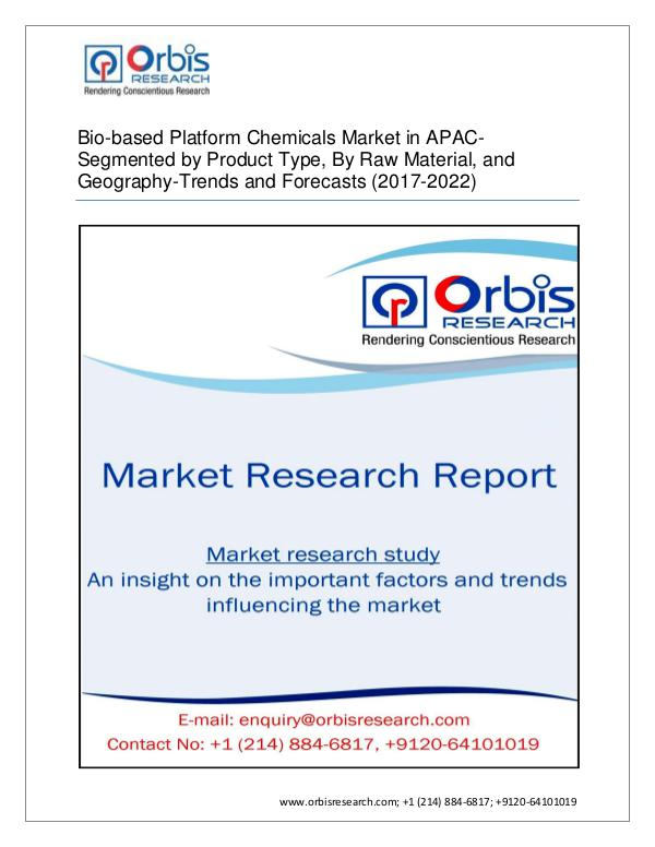 Chemical and Materials Market Research Report New Report on APAC Bio-based Platform Chemicals