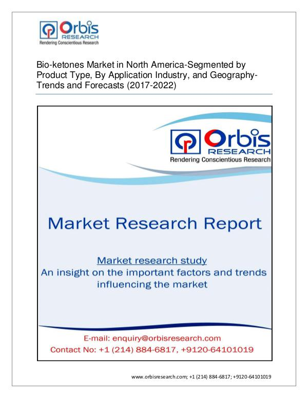 2017 North America Bio-ketones Market Segmented by