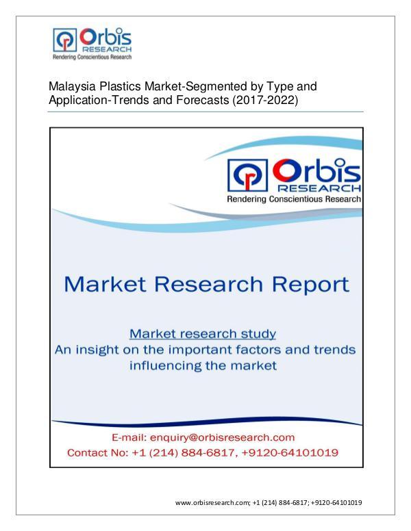 2017 Malaysia Plastics -Segmented by Product Type,