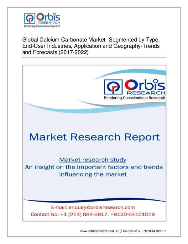 Global Calcium Carbonate Market-Segmented by Type,
