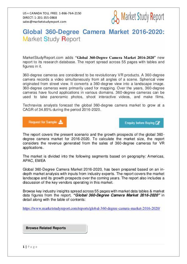 Global 360-Degree Camera Market 2016 Global Analys