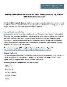 Flooring Underlayment Market