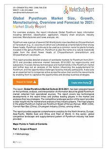 Pyrethrum Market Development Status and Revenue Forecast 2016-2021
