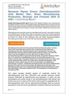 Global Chenodeoxycholic Acid Market 2016-2021