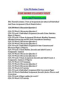 CJA 374 ASSIST Career Begins/cja374assist.com