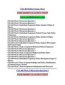 CJA 464 MASTER Career Begins/cja464master.com