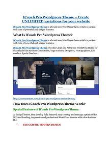 iCoach Pro Wordpress Theme Review and GIANT $12700 Bonus-80% Discount
