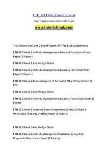 ETH 321 Course Great Wisdom / tutorialrank.com