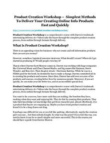 Product Creation Workshop review and $26,900 bonus - AWESOME!