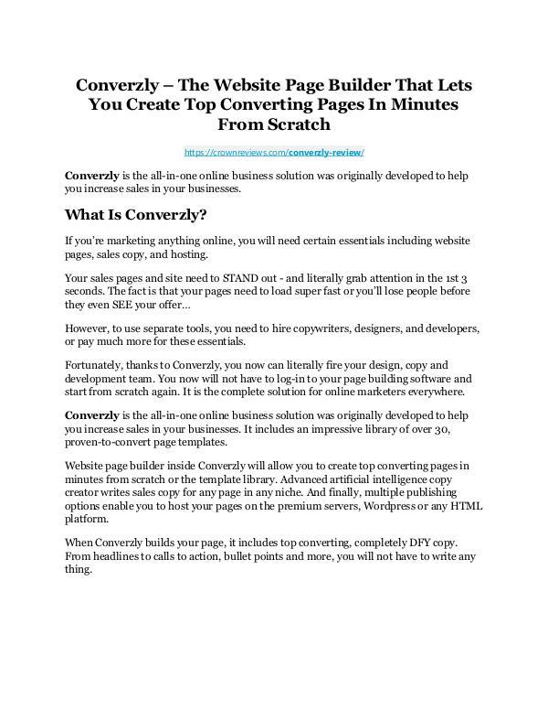 Converzly Review-$24,700 BONUS & DISCOUNT NOW Converzly Review-AMAZING $32,000 Bonus & Discount