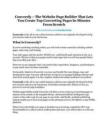 Converzly Review-$24,700 BONUS & DISCOUNT NOW