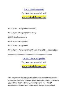 GB 513 Course Great Wisdom / tutorialrank.com