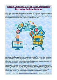 Website Development Company in Ahmedabad: Developing Business Website