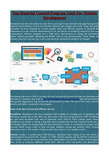 Top Material Control Program Used For Website Development