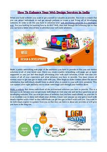 How To Enhance Your Web Design Services in India