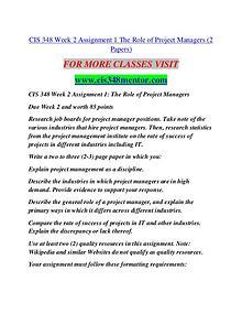 CIS 348 MENTOR Future Starts Here/cis348mentor.com