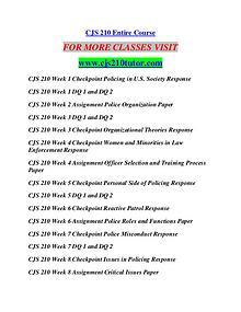 CJS 210 TUTOR Career Begins/cjs210tutor.com