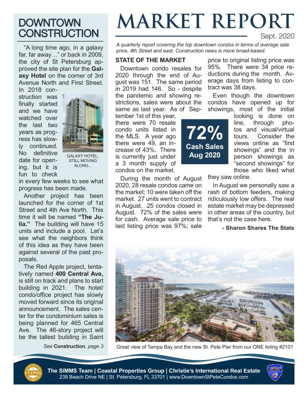 Downtown Condo Market Report Sept 2020 September 2020
