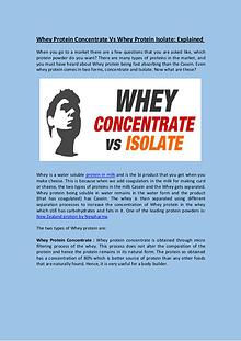 Whey Protein Concentrate Vs Whey Protein Isolate: Explained