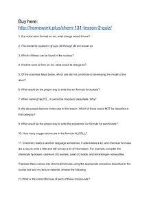 CHEM 131 Lesson 2 Quiz