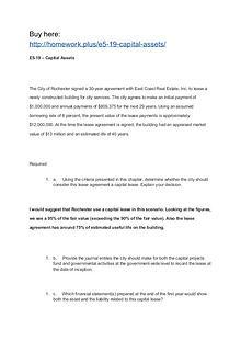 E5-19 – Capital Assets