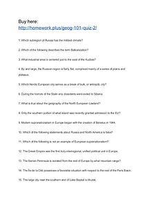 GEOG 101 Quiz 2