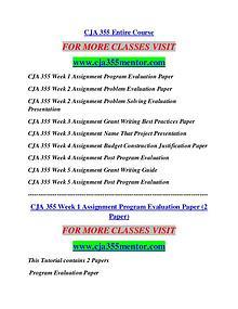 CJA 355 MENTOR Career Begins/cja355mentor.com