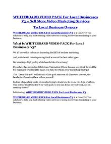 WHITEBOARD VIDEO PACK For Local Businesses V3 review - WHITEBOARD VIDEO PACK For Local Businesses V3 top notch features