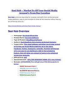 Soci Hub review demo & BIG bonuses pack