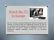 Watch Sky Hd In Europe