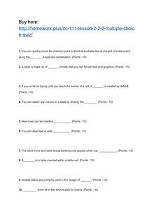 ITC 111 Lesson 2-2.2 Multiple Choice Quiz