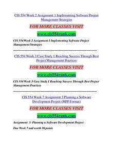 CIS 554 RANK Career Begins/cis554ank.com