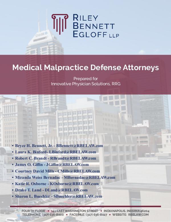 RBE - Health Care Attorneys Medical Malpractice Defense Attorneys