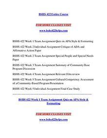 BSHS 422 HELPS Logical Brains / bshs422helps.com