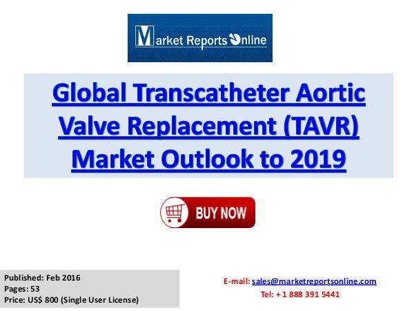 World TAVR Market Forecast to 2019 Feb 2016
