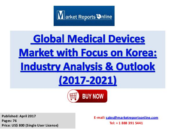 Medical Devices Market Forecast Analysis Report 2017-2021 Apr 2017